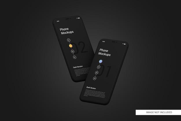 Makieta ekranu telefonu komórkowego