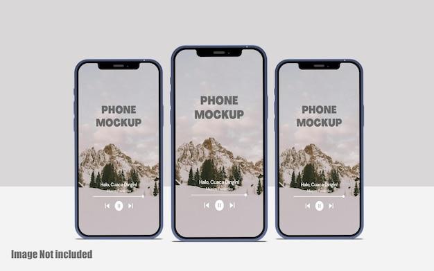 Makieta ekranu telefonu premium psd