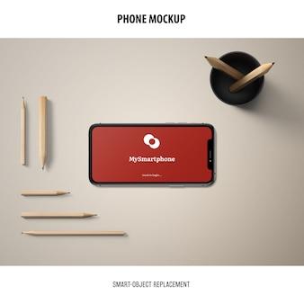 Makieta ekranu telefonu