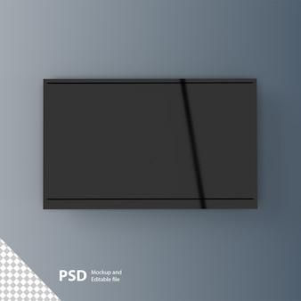 Makieta ekranu telewizora na białym tle