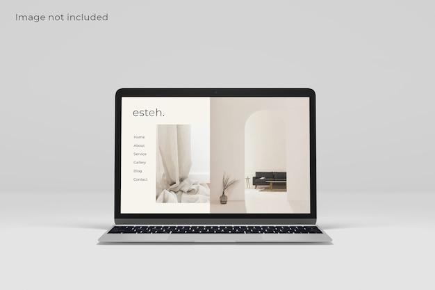 Makieta ekranu urządzenia cyfrowego laptopa