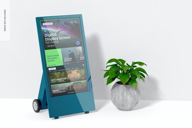 Makieta ekranu wyświetlacza cyfrowego, widok z lewej strony