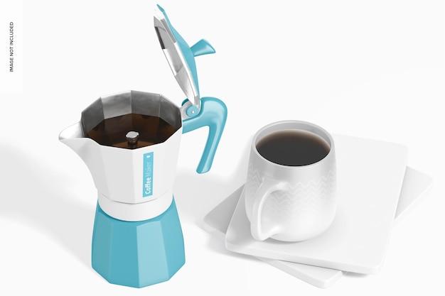 Makieta ekspresu do kawy, otwarta