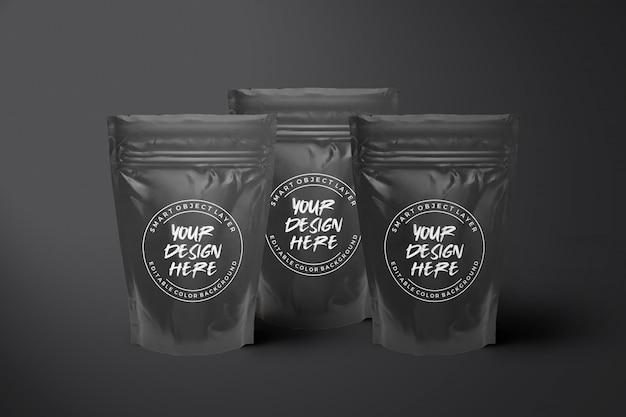 Makieta elegancka czarna torebka na żywność