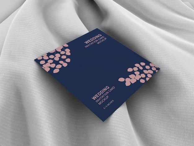 Makieta elegancki karta zaproszenie ślubne kwadratowe