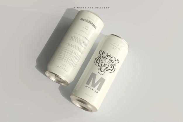 Makieta eleganckiej puszki 500ml sody lub piwa