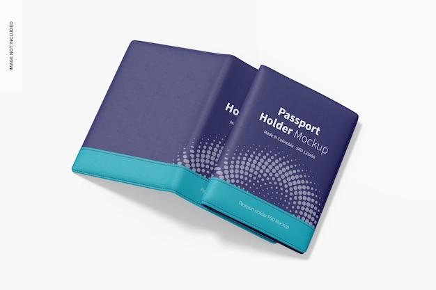 Makieta etui na paszport, otwarta