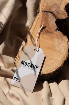 Makieta etykiet do wieszania odzieży