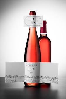 Makieta etykiety butelek wina