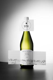 Makieta etykiety butelki wina