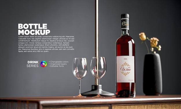 Makieta etykiety czerwonego wina