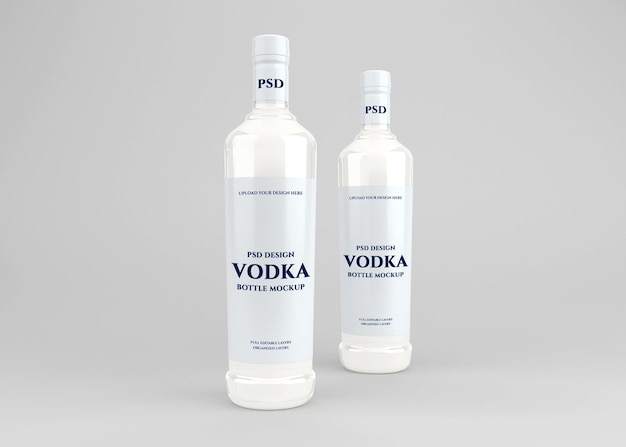 Makieta etykiety na butelkę alkoholu wódki