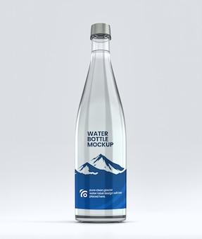 Makieta etykiety na butelkę wody