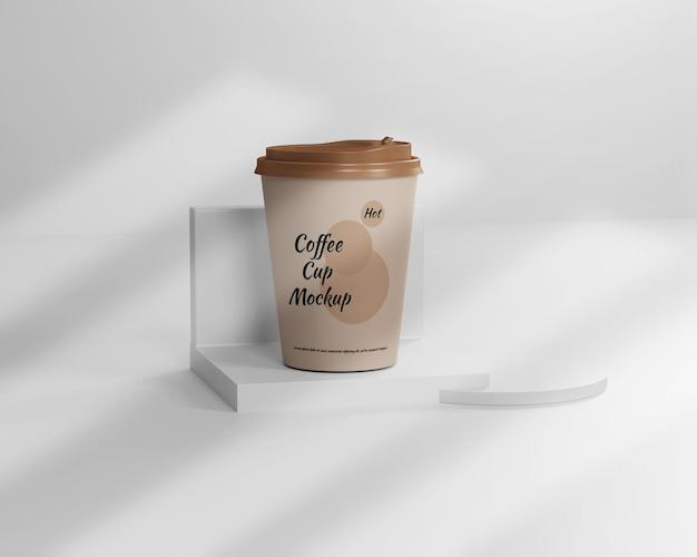Makieta filiżanki gorącej kawy