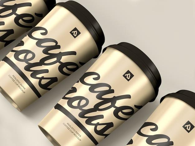 Makieta filiżanki kawy. pojemnik na kawę na wynos