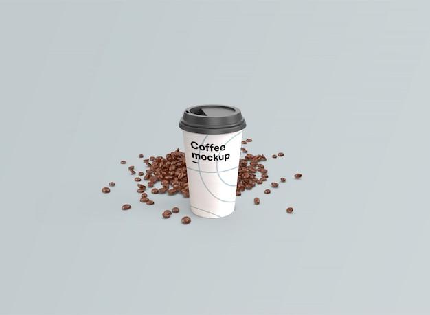 Makieta filiżanki kawy psd