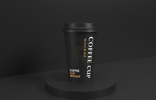 Makieta filiżanki kawy ze stojakiem na produkt