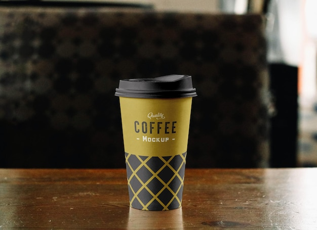 Makieta filiżanki kawy