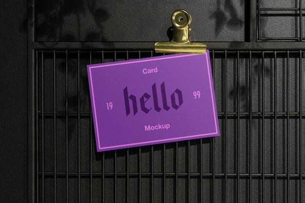 Makieta fioletowej karty