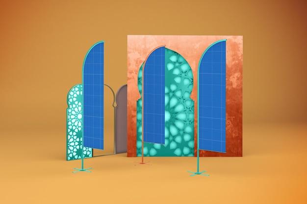 Makieta flagi arabskiej