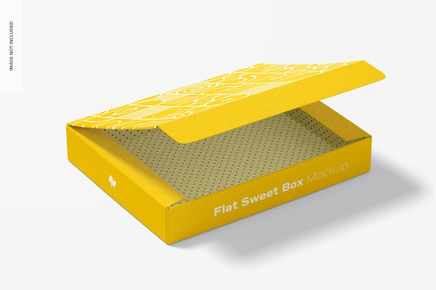 Makieta flat sweet box
