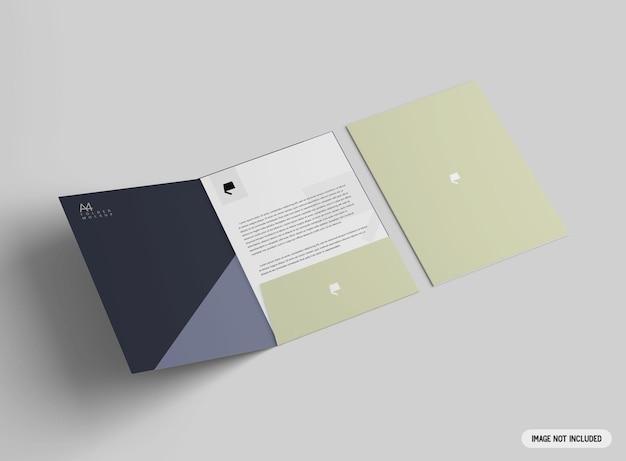 Makieta folderu a4