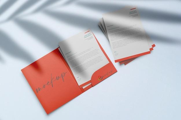 Makieta folderu prezentacji