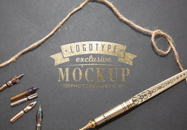 Makieta fotorealistyczne logo w stylu vintage
