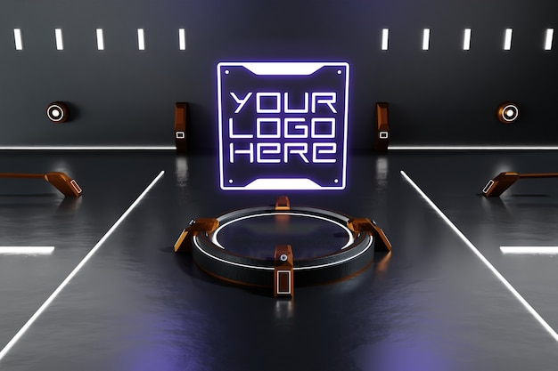 Makieta futurystycznego logo