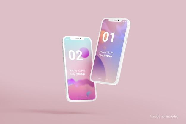 Makieta gliny do projektowania telefonu komórkowego