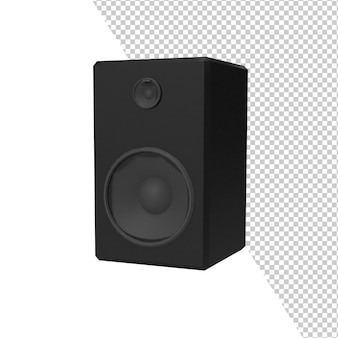 Makieta głośnika audio na białym tle