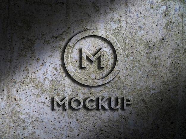 Makieta grunge logo
