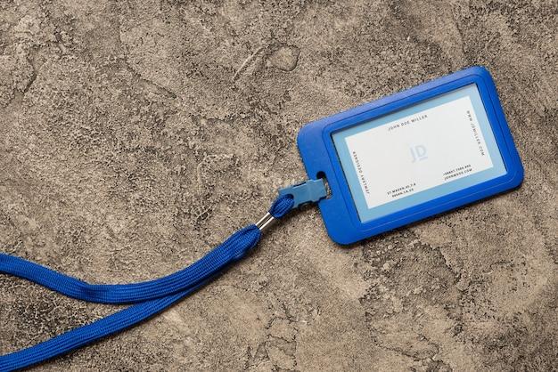 Makieta identyfikatora posiadacza karty