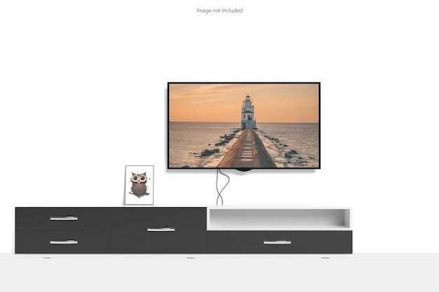 Makieta inteligentnego telewizora i ramki na zdjęcia