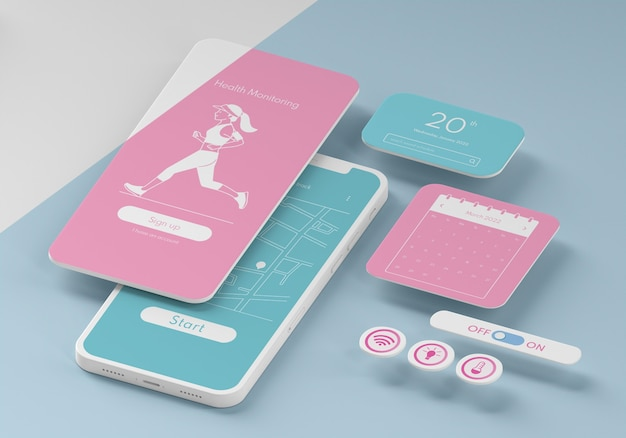 Makieta interfejsu użytkownika telefonu komórkowego