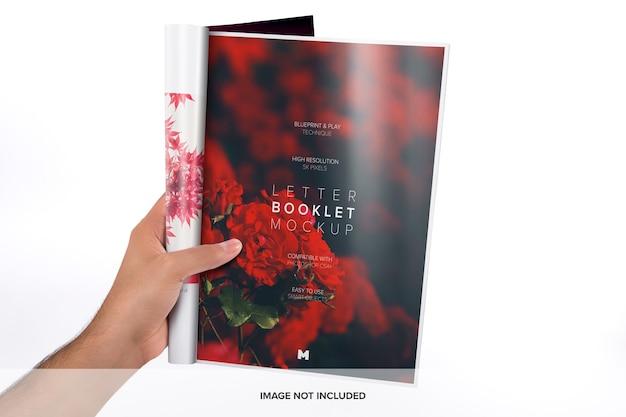 Makieta jednostronicowa broszury listowej