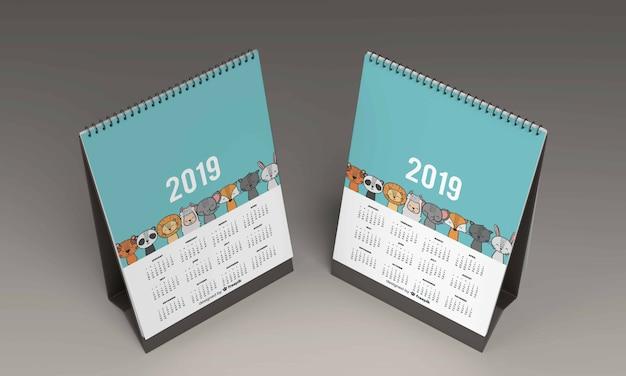 Makieta kalendarza biurka