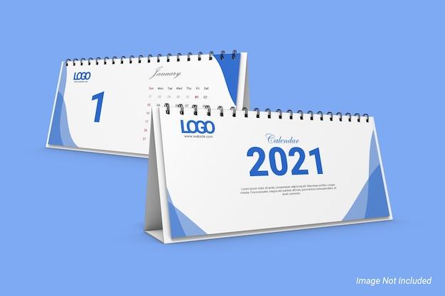 Makieta kalendarza biurkowego dl w orientacji poziomej