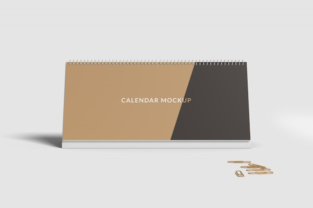 Makieta kalendarza biurkowego z przodu
