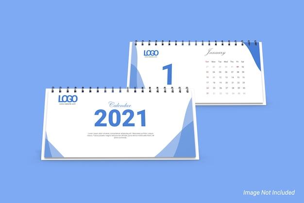 Makieta kalendarza biznesowego krajobrazu