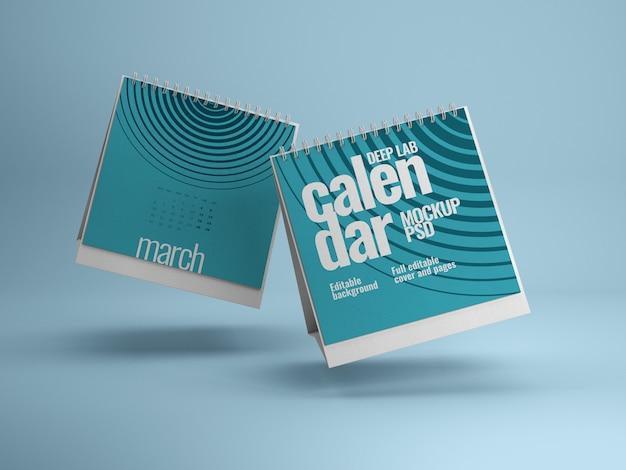 Makieta kalendarza kwadratowego biurka