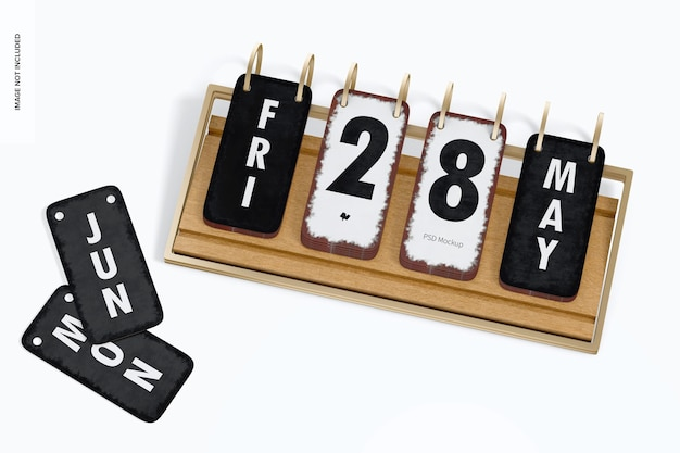 Makieta kalendarza na biurko, widok z góry 02