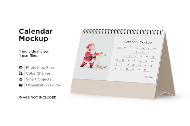 Makieta kalendarza na biurko