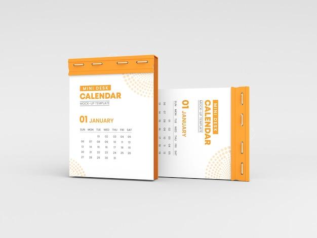 Makieta kalendarza na mini biurko