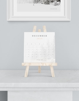 Makieta kalendarza na temat obsługi farb