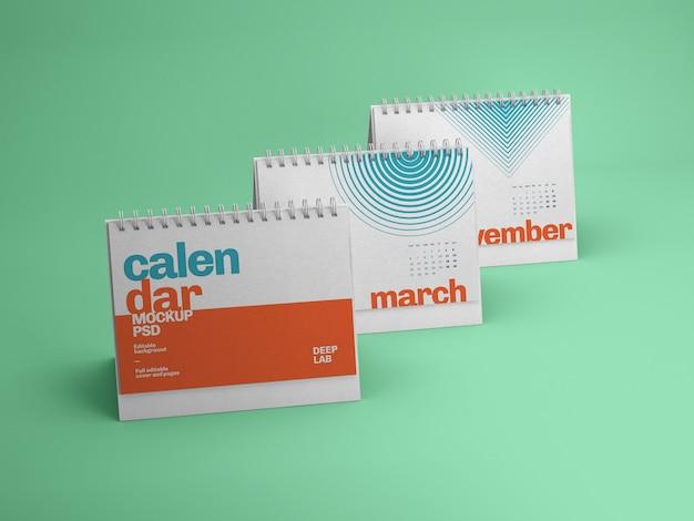 Makieta kalendarza poziomego biurka