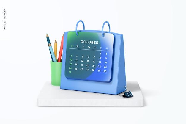 Makieta kalendarza stołowego, widok z prawej