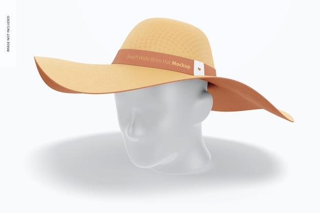 Makieta kapelusza plażowego z szerokim rondem