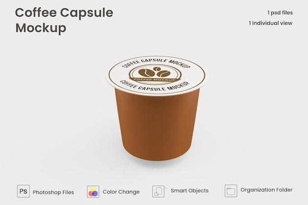 Makieta kapsułki kawy coffee