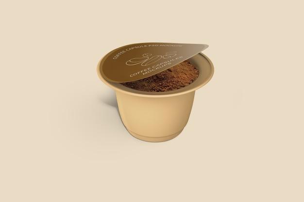 Makieta kapsułki kawy